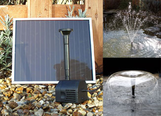 Solar Powered Pond Pump Featuring 2 Types Of Fountain Head