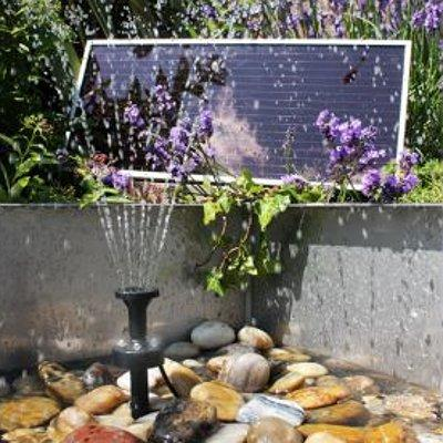 Solar Pond Pump In Garden